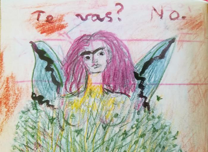 el diario de Frida-retrato-alasrotas
