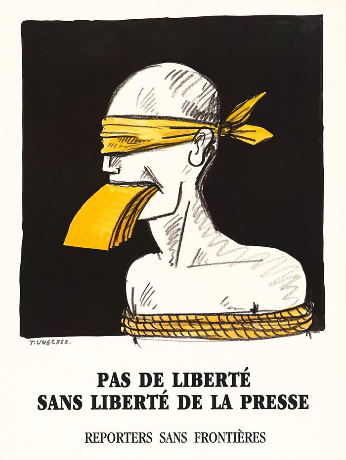 Tomi Ungerer_cartél_libertad de expresión