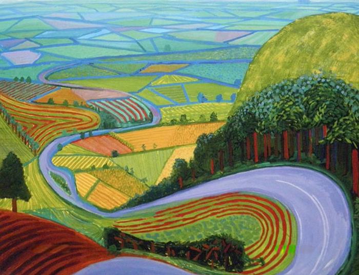 Garrowby Hill-David Hokney