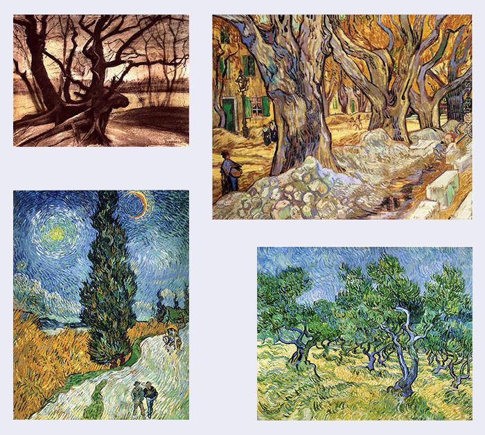 dibujar un árbol-Van Gogh