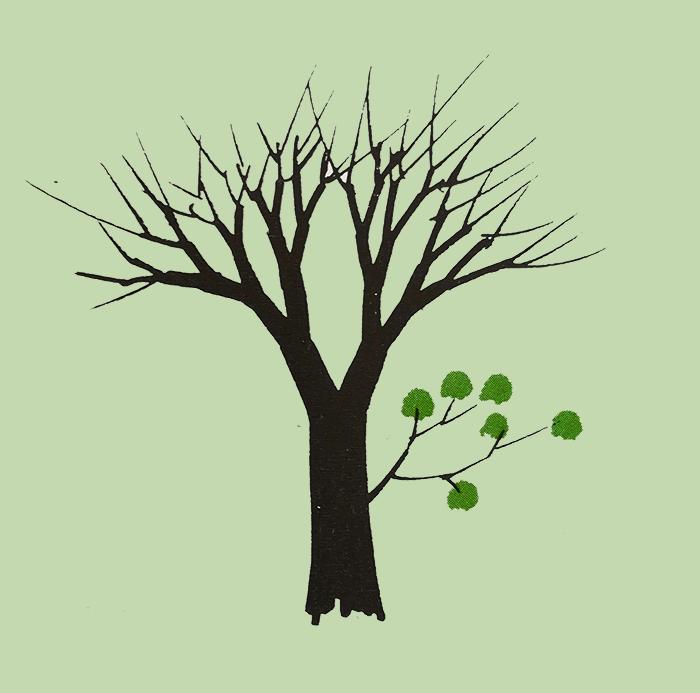 dibujar un árbol-rama loca