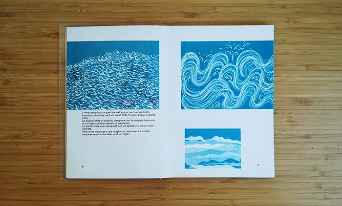 pintar el agua-olas