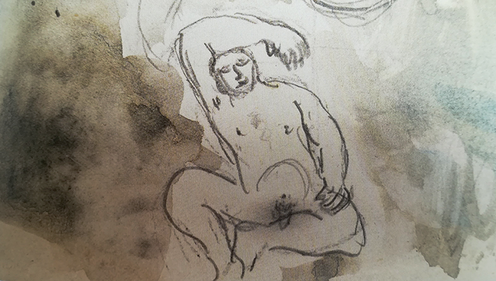 chagall-biblia-zorro rojo-creación eva