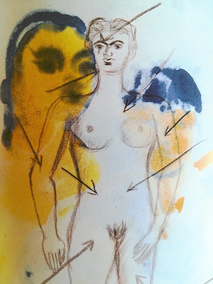 el diario de Frida-cuerpo-con-flechas