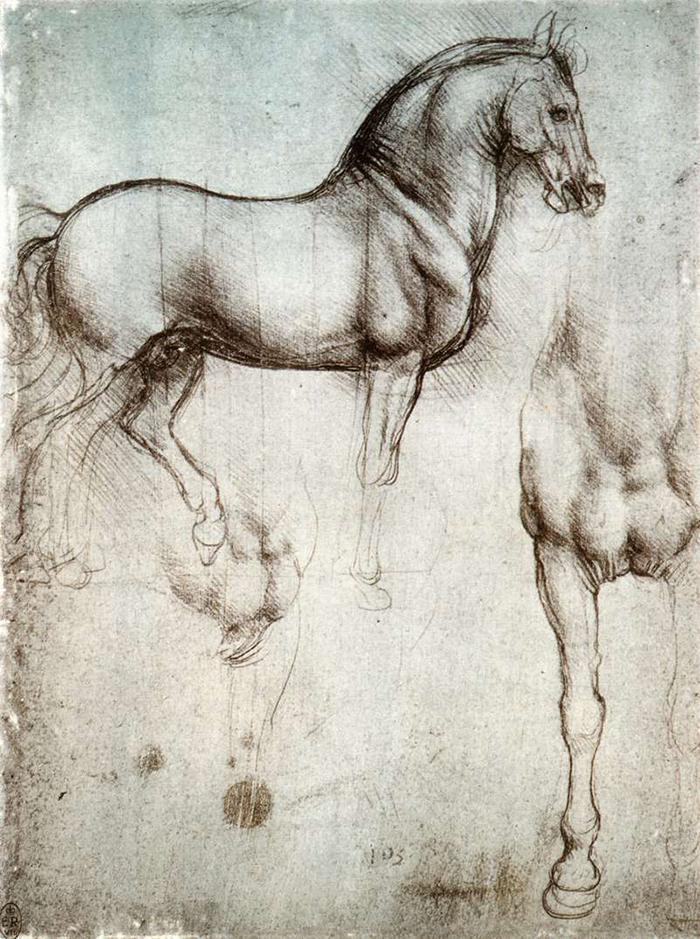boceto-Leonardo-caballos