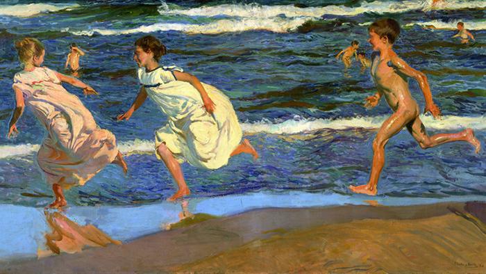 Joaquín Sorolla-corriendo en la playa-1908