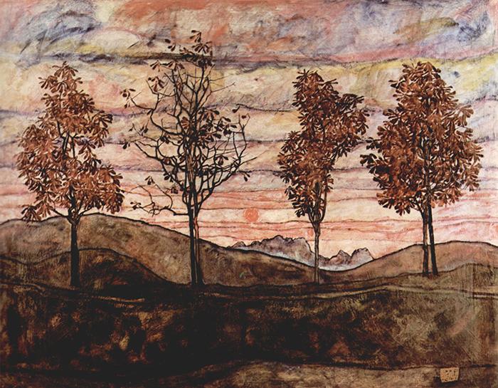 Schiele_vier baume_1927