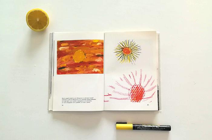 dibujar el sol-Bruno Munari-distintas técnicas