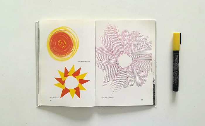 dibujar el sol-Bruno Munari-distintas técnicas2