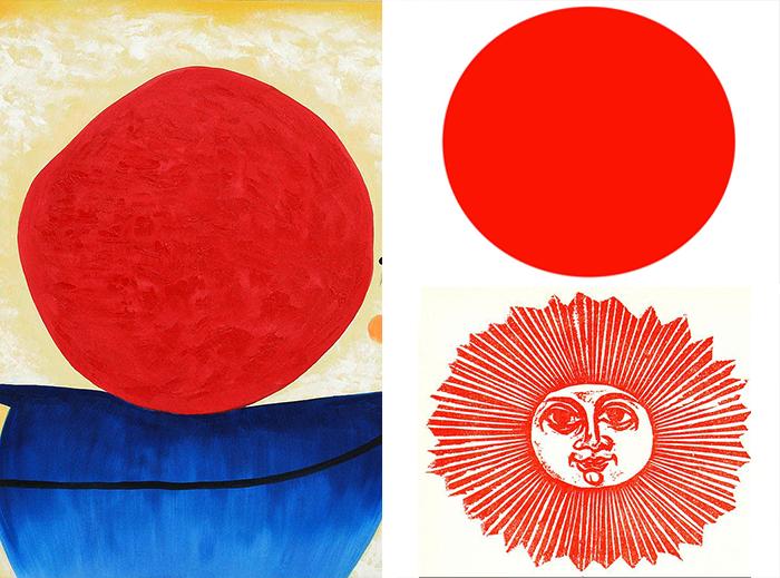 dibujar el sol-miro-japan flag-frasconi