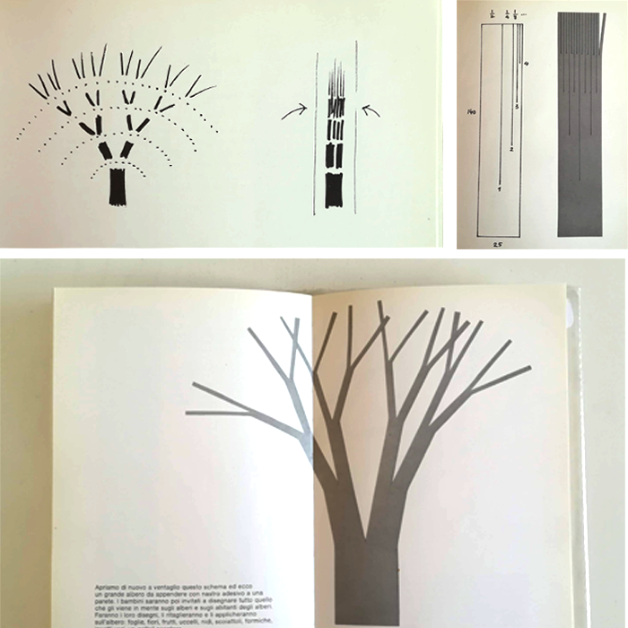 dibujar un árbol-juego con tijeras