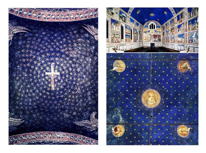 pintar el cielo-cielo estrellado-mausoleo Gala Placidia_Capilla Scrovegni Giotto