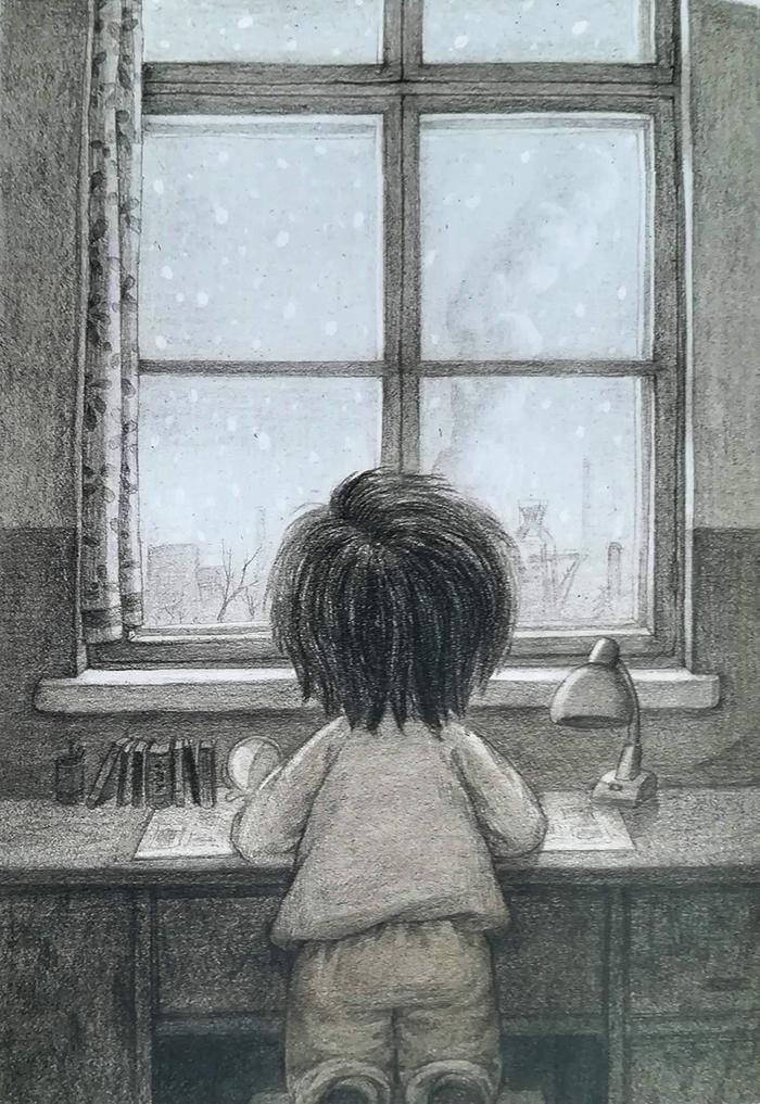 hija única-guojing-ventana