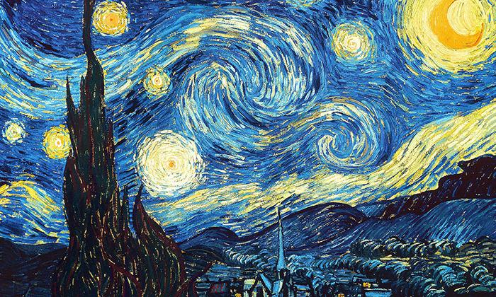noche estrellada-van gogh-estrellas