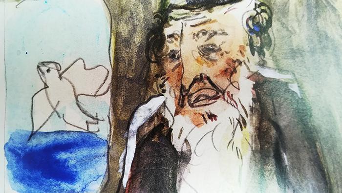 chagall-biblia-zorro rojo-noé suelta a la paloma